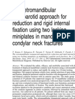 Retromandibular Transparotid approch for reduction and rigid fixation of condylar neck fracture
