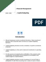 Unit 8 - Capital Budgeting