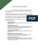 Investigación Sobre Transporte en Colombia