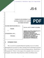Mavrix v Livejournal Summary Judgment Order