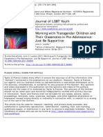 Working with Transgender Children and Their Classmates in Pre-Adolescence