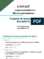Conjunto de Instrucoes PIC 16F877A