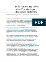 La Familia de La Nieta 115 Había Denunciado a Francisco Por Complicidad Con La Dictadura