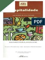 Livro Hospitalidade Camargo