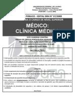Copese-uft 2009 Ufla Medico-clinica-medica Prova
