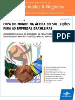 Boletim Oportunidades - Negocios Sebrae - Licao Da Copa Do Mundo Da Africa Para as Empresas Brasileiras