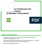 awareness of holocaust and genocide issues by michigan young adults