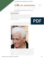 Derrida en Castellano - Cierta Posibilidad Imposible de Decir El Acontecimiento