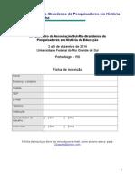 Ficha de Inscrição - 20º Asphe