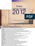 Estudio Global de Emisiones de Carbono 2012