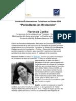 Florencia Coelho, de La Nación Data, será expositora de la Conferencia Periodismo en Debate 2014