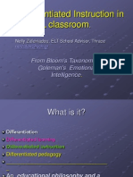differentiated instruction in the efl multicultural classroom