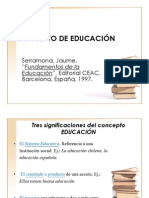 1.- Concepto de Educacion