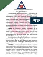 Comunicado Público Juventud Radical de Quilpué