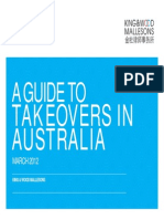 A Guide to Takeovers in Australia