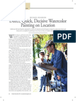Direct, Quick, Decisive Watercolor Painting on Location