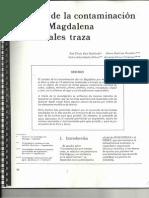 Estudio de La Contaminacion Del Rio Magdalena Por Metales Traza