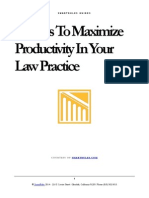 10 Ways To Maximize Productivity In Your Law Practice