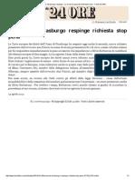 20140414 Berlusconi, Strasburgo Respinge - La Corte Europea Dei Diritti Dell'Uomo - Il Sole 24 ORE