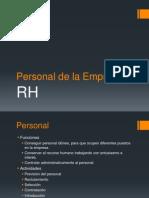Personal de La Empresa