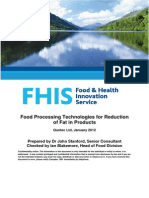 Food Processing Technologies for Reduction of Fat in Products Final