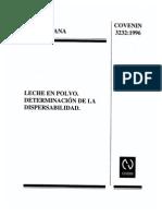 Dispersabilidad en Leche en Polvo232-1996