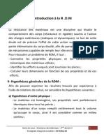 Notes de Cours RDM 2013