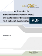 DESD and Sustainable Education in First Nation Schools in Manitoba
