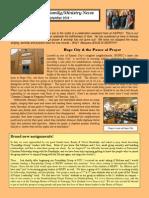 Marcum Family/Ministry Newsletter - Sept 2014