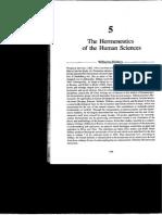 Willhem Dilthey - The Hermeneutics of Human Sciences