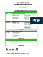example competition timetable