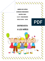 Entrevista Niños 2014-2015