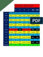 Quadro de Horários Semanal - Concurso Pf 2013-2014