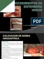 procedimientos de enfermeria video delia