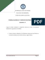 Formulas Quimicas y Composición Estequiométrica