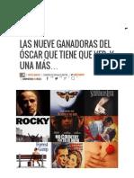 Las Nueve Ganadoras Del Óscar Que Tiene Que Ver, y Una Más... • ENTER
