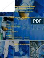 INFORME N°2 DE ANALISIS DE AGUA Y DESAGUE-DETERMINACION DE TURBIDEZ Y PH