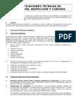 Especificaciones Técnicas de Inspección y Control de Salas