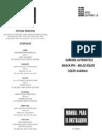 590_Manual - BARRERA AUTOMÁTICA de Brazo Rígido - Contakto
