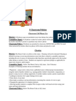 5 classroom policies
