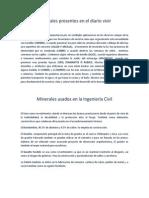 Minerales Presentes en El Diario Vivir