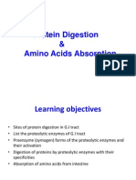 1. Protein Digestion and Amino Acid Absorption RM- F2014