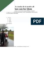 Historia de La Concha de Tu Madre All Boys Quiénes Son Los Qom