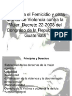 Ley Contra El Femicidio