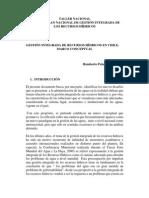Hacia Un Plan Nacional de Gestion Integrada de Los Recursos Hidricos en Chile