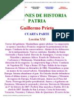 Leccion vigesimaprimera de la cuarta parte de Lecciones de historia patria de Guillermo Prieto.pdf