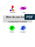 Learning Styles Evaluation