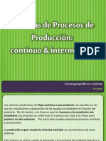 Produccion Conitnua e Intermitente