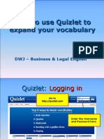 Using Quizlet (DWJ – Business & Legal English)