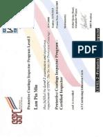 SSPC PCI Certified Inspector Certificate